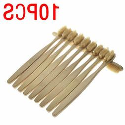 10Pc Oral Care Durable Toothbrush Bamboo Environmental Soft