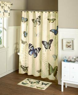 19 Pc. Butterfly Bathroom Set or Accessories Shower Curtain