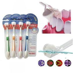 3 Sided Toothbrush Ultrafine Soft Bristle Adult Tooth Brush