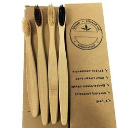 4x Oral Care Durable Bamboo Toothbrush Environmental Soft Br