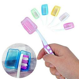 5x Toothbrush Head Cover Case Cap Travel Hike Camping Brush
