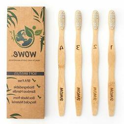 Natural Bamboo Toothbrush - Eco Friendly - BPA Free Bristles