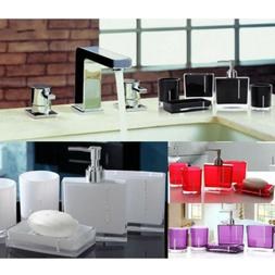 Bathroom Accessories Set 5 Pcs-Bath Cup / Toothbrush Holder