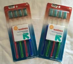 Contour Value Pack Tooth Brushes 2 Packages or 8 Toothbrushe