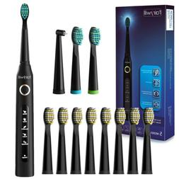 Fairywill Electric Toothbrush 12X Firm Brushes Rechargeable