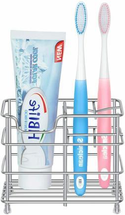 HBlife Stainless Steel Bathroom Toothbrush Holder Toothpaste