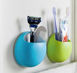 Home Bathroom Toothbrush Wall Mount Holder Sucker Suction Or