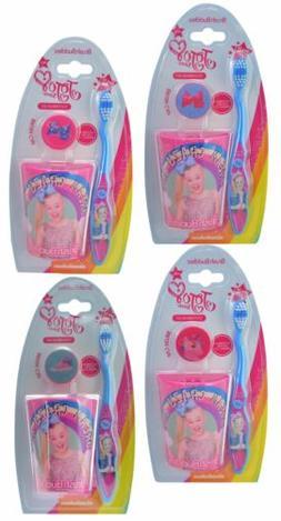 Jojo Siwa 3-Piece Toothbrush Set, Cap & Rinsing Cup for Kids
