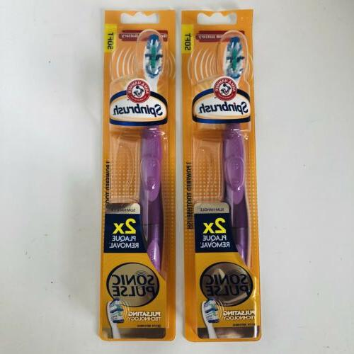 2 & Spinbrush Pulse Soft 2x Plaque Removal