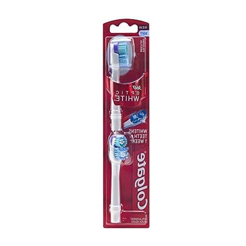 Colgate 360 Optic White Battery Toothbrush Replacement Head