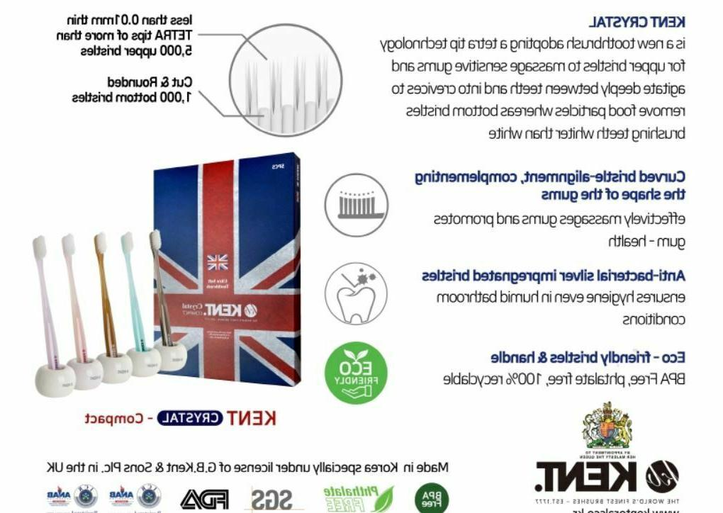 Kent Crystal Compact Soft Premium Toothbrushes PCS Set Expedite
