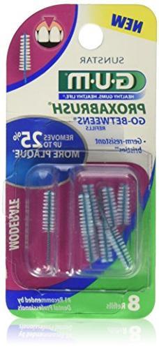ChoiceMMed Gum Go-Betweens Moderate Proxabrush Refills, 8 Co