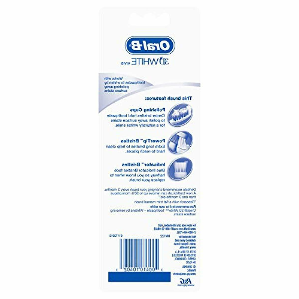 Oral-B Soft 3D Vivid Toothbrush, 4 Count