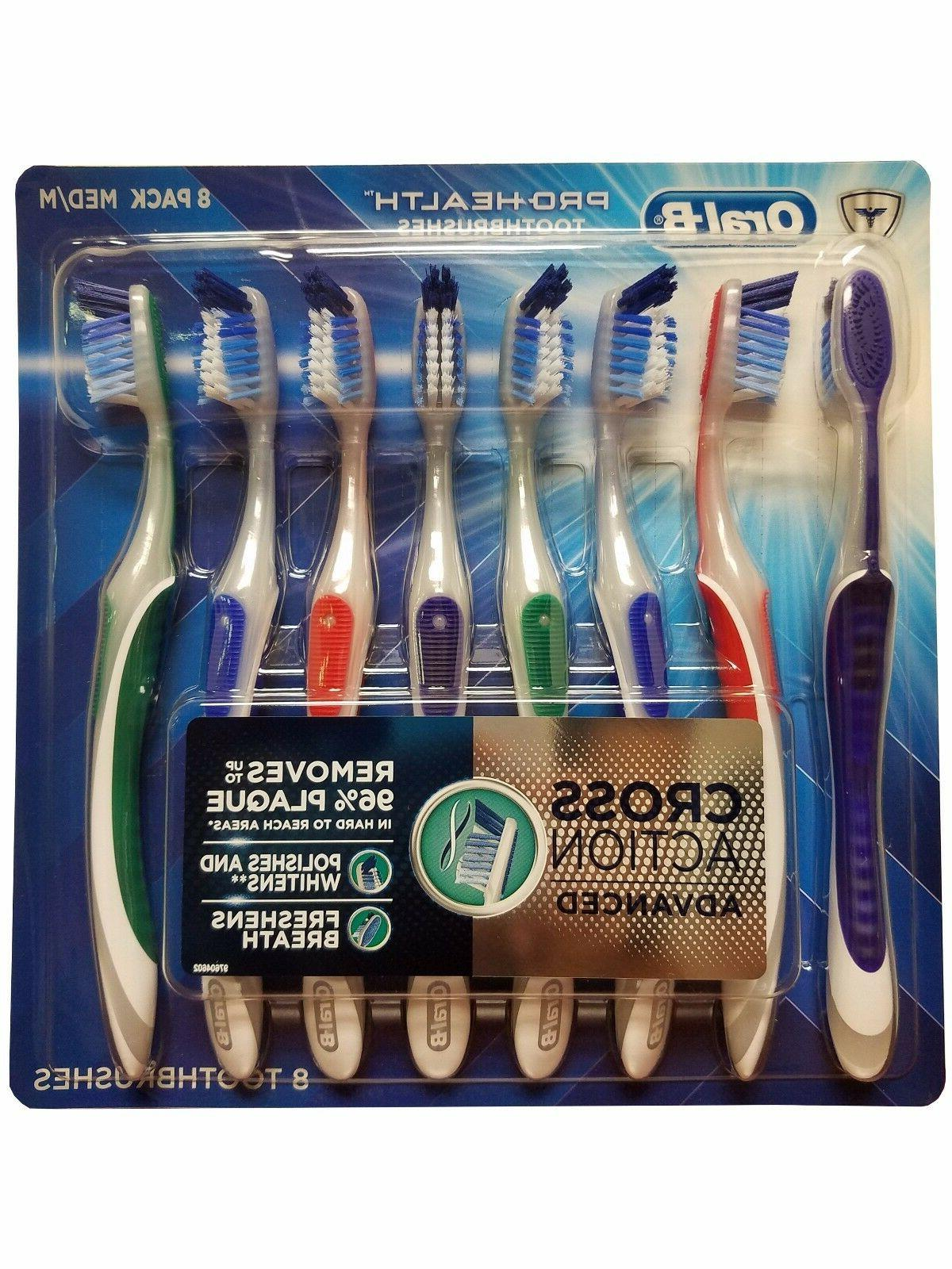 Oral B Pro-Health Toothbrushes Cross Action Advanced Medium