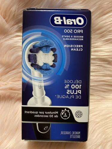 oral b pro 500 electric rechargeable toothbrush