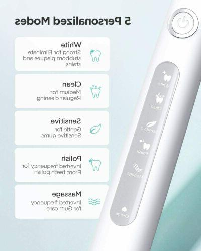 Fairywill Sonic Toothbrush Electric Rechargeable Brush 5