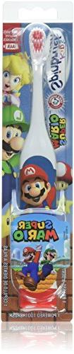 ARM & HAMMER Kid's Spinbrush Powered Toothbrush, Super Mario