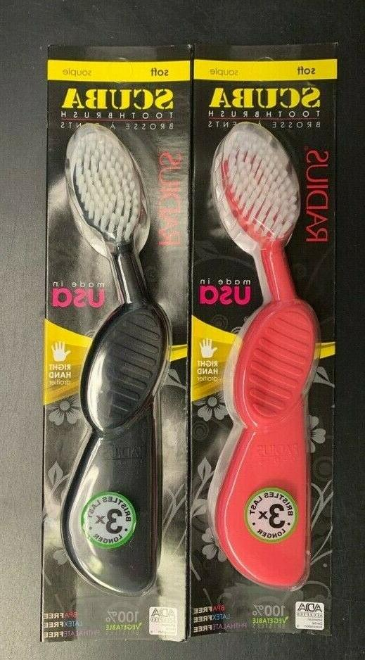 Adult Toothbrush - Right Scuba, 6 Units / 1 ea