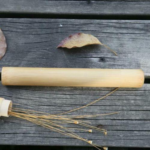 Toothbrush Brush Soft-bristle Bamboo Fibre Holder Handle