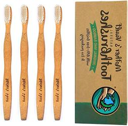 Mothers Vault Biodegradable Eco-Friendly Bamboo Toothbrush w