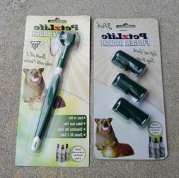 NEW PetzLife Complete Brush 3-in-1 & Finger Brush 3 Pack For