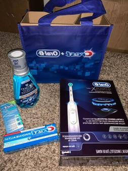 NEW Crest Oral-B Power Toothbrush Genius, 4 Piece Bundle Pac