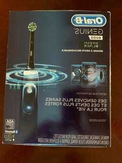 Oral-B Genius 8000 Electronic Toothbrush, Black Edition, Pow