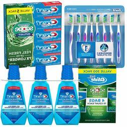 Oral B Toothbrushes Floss Picks Toothpaste Mouthwash Medium