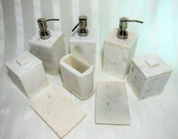 Real Genuine Natural MARBLE STONE Bath Vanity Accessories uP