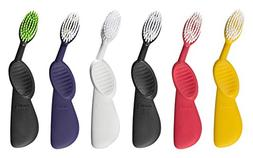 Radius Scuba Toothbrush, Left Hand, Soft, Assorted Colors