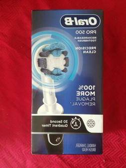 SEALED Oral-B Pro 500 Electric Rechargeable Toothbrush w Pre