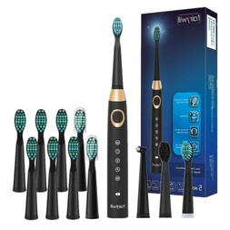 Fairywill Sonic Electric Toothbrush Rechargeable USB 12 Brus