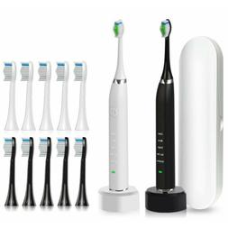 Genkent Sonic Electric Toothbrush with 10 Replacement Brush