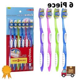 Toothbrush Colgate Extra Clean Head Full Medium Pack of 6 Br