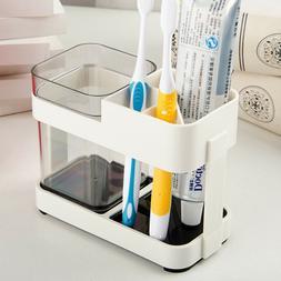 Toothbrush Toothpaste Stand Holder Bathroom Storage Organize