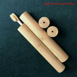 Toothbrush Wooden Case For Child Soft-bristle Bamboo Fibre H