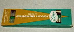 Vintage NOS Fuller 3 Tooth Brushes #450 Regular Medium Stiff